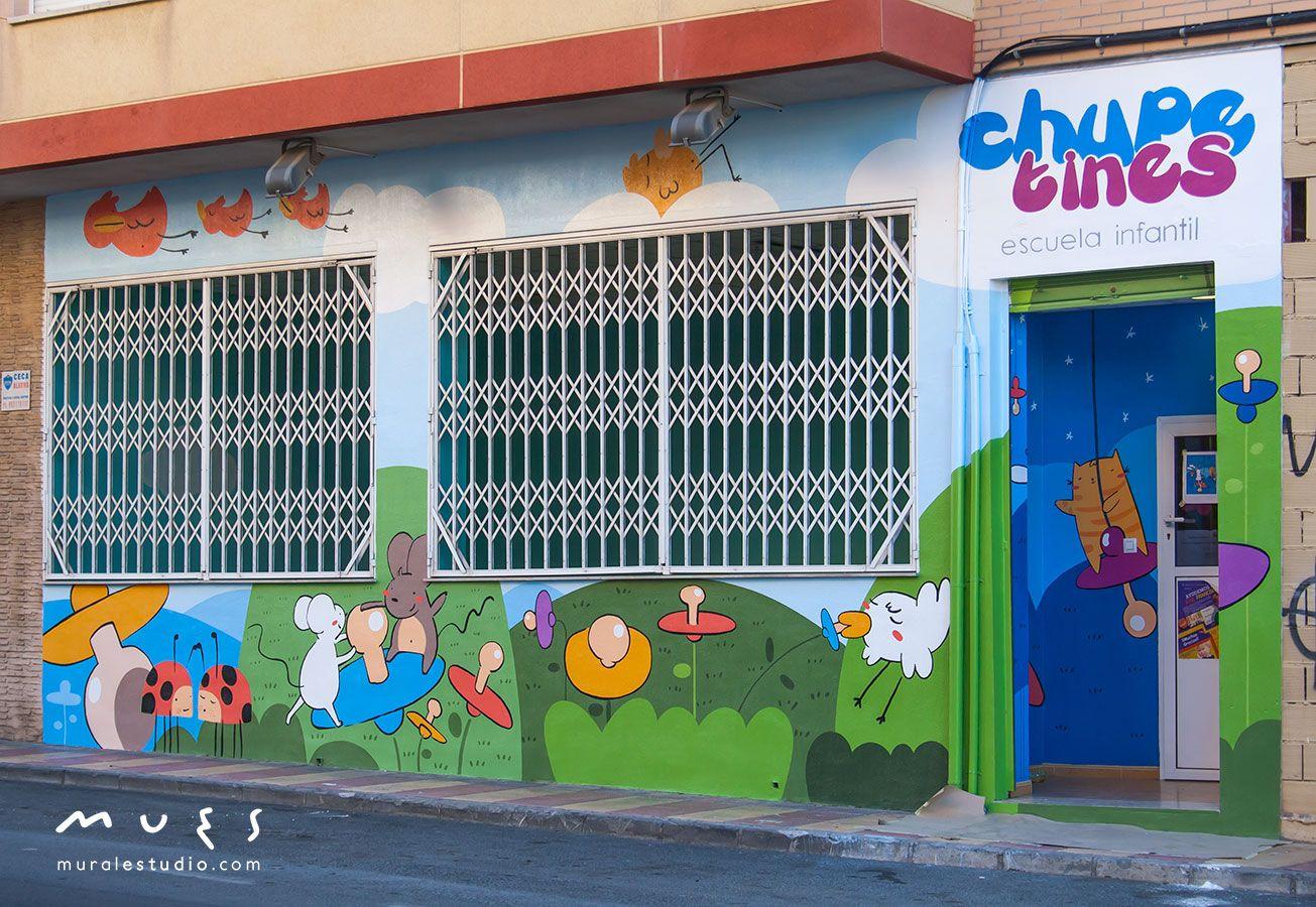 147f32bcad8 mural infantil pintado en Murcia