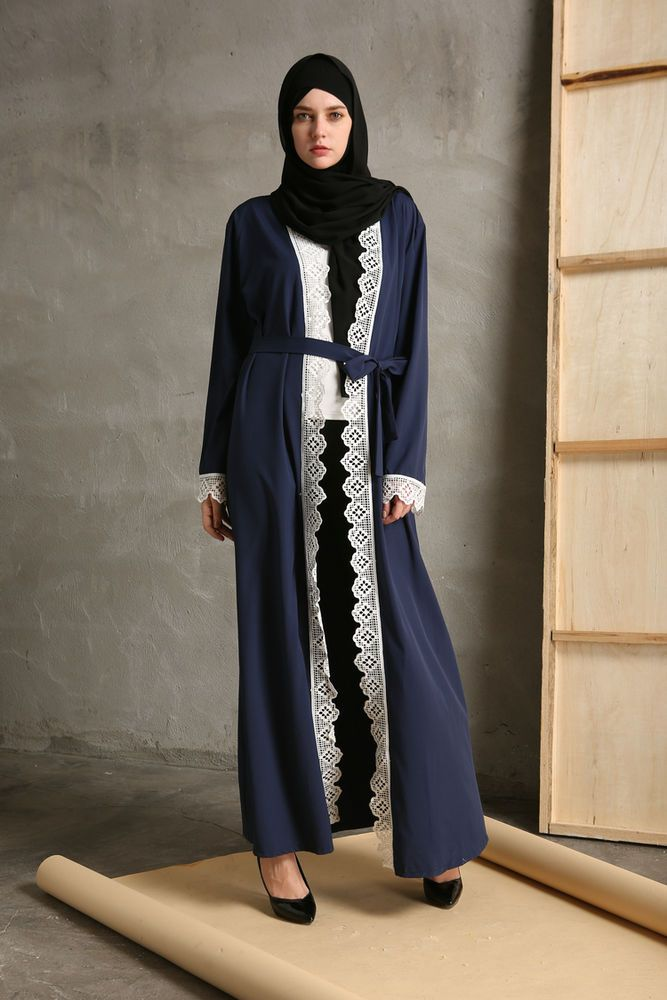 837bafc1940 Dubai Kaftan Abaya Jilbab Islamic Muslim Women Cardigan Long Sleeve Maxi  Dress | Clothing, Shoes & Accessories, Cultural & Ethnic Clothing, ...