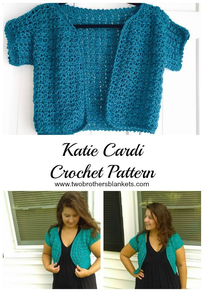 Katie Cardigan Crochet Pattern - Two Brothers Blankets