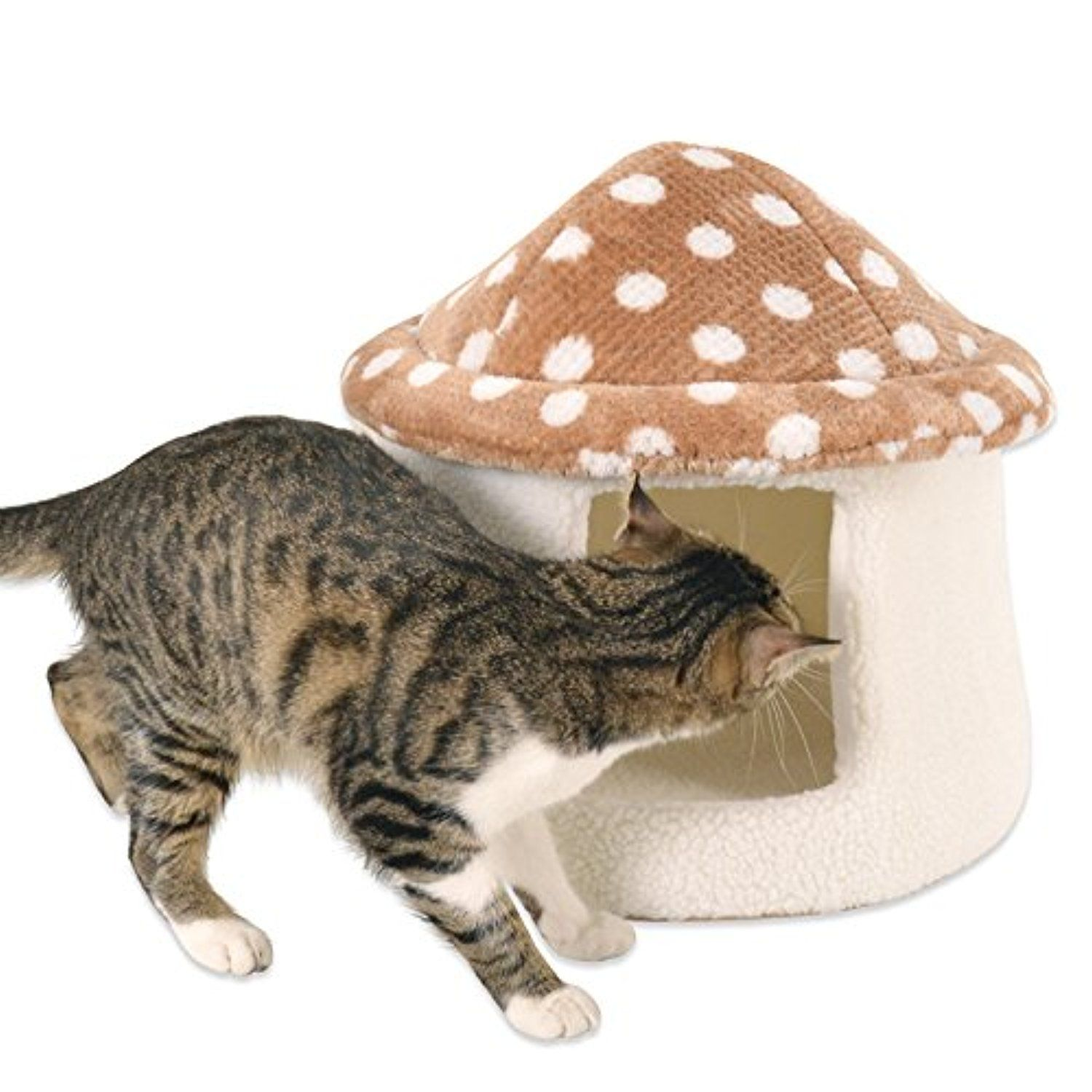 Q@QQFall/winter mushroom house nest pet cats and dogs nest House , a