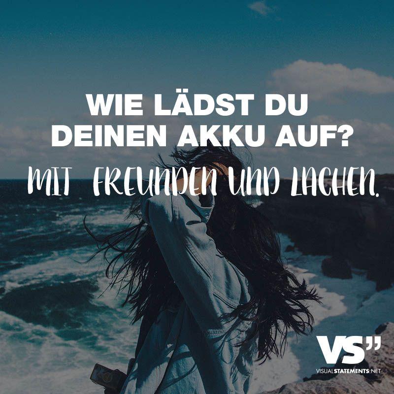 Wie lädst du deinen Akku auf? Mit Freunden und Lachen | German