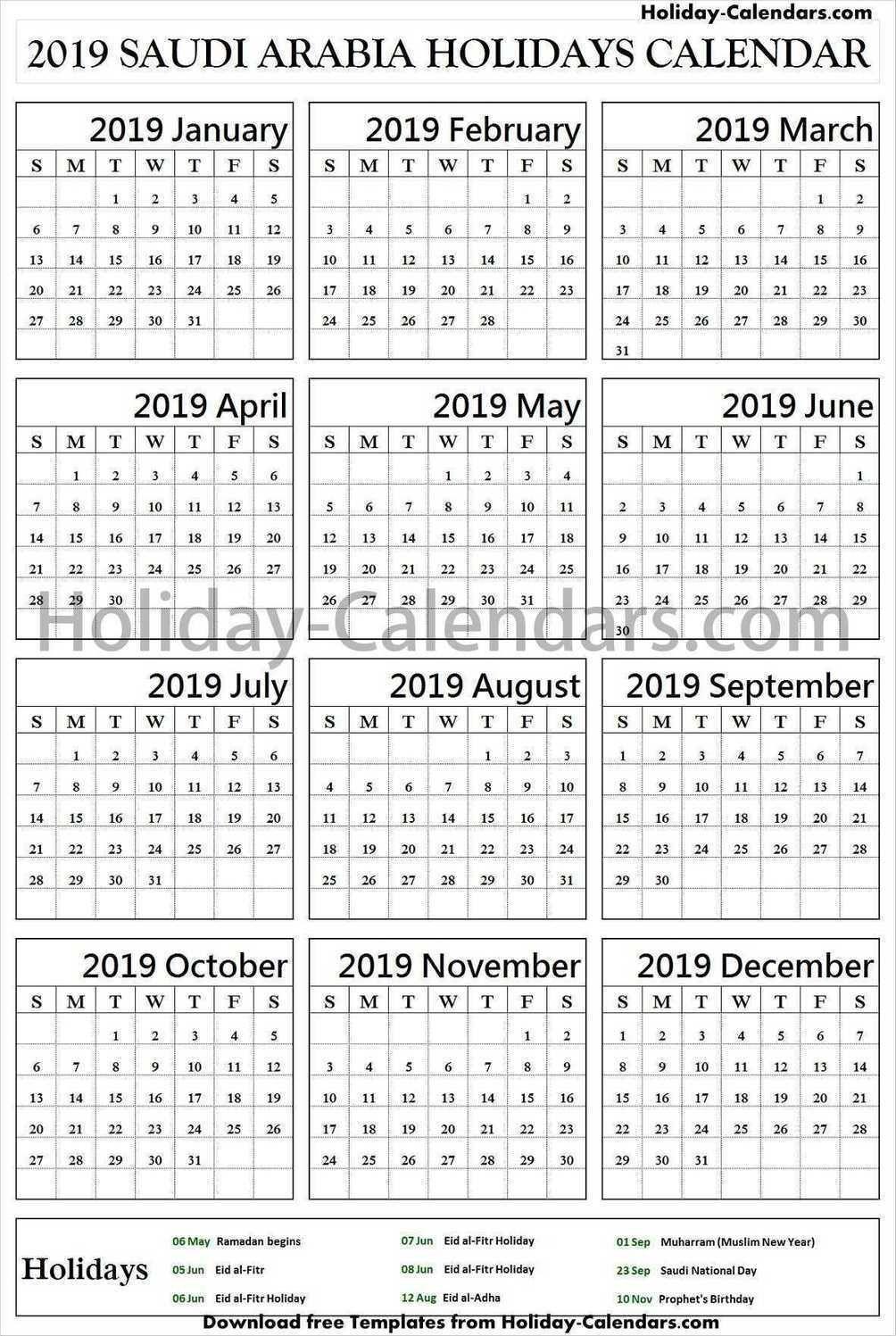 Saudi Arabia Bank Holidays 2019 School Holidays Holiday