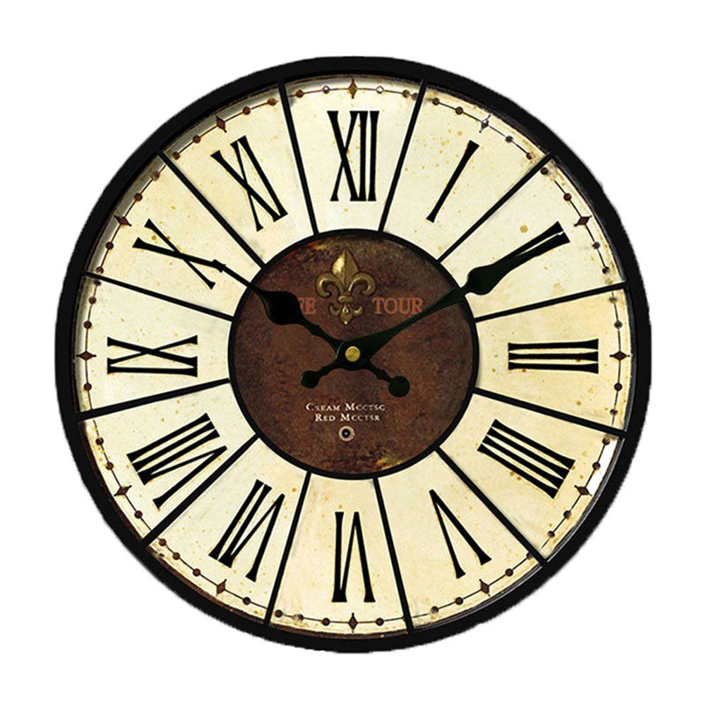 Country Kitchen Wall Clocks Nutk 14 Vintage Silent Wall Clock Large Decorative Battery Quartz