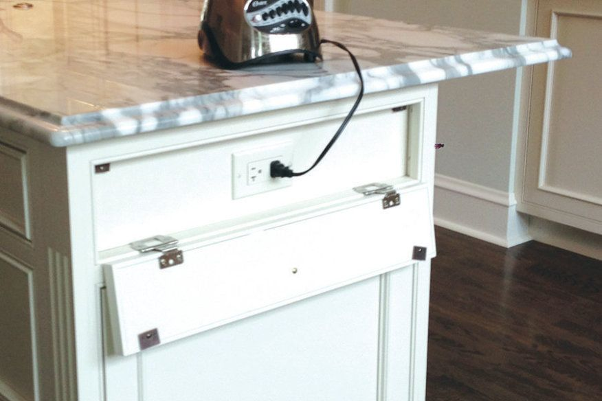 Rather Than Detracting From This Handsome Furniture Look Island, The Outlets  Are Concealed Behind · Electrical OutletsUnder CabinetIsland ...