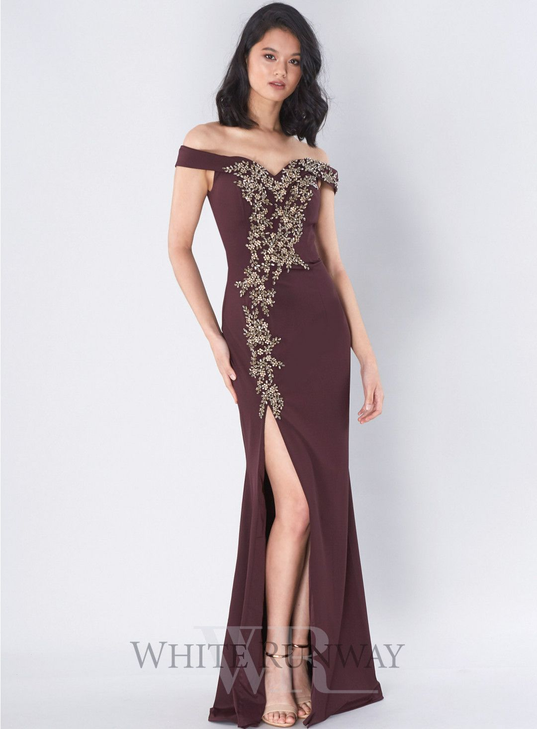 329d25c29f Foresta Gown. A beautiful full length dress by Jadore Evening. An off  shoulder style featuring a sweetheart neckline