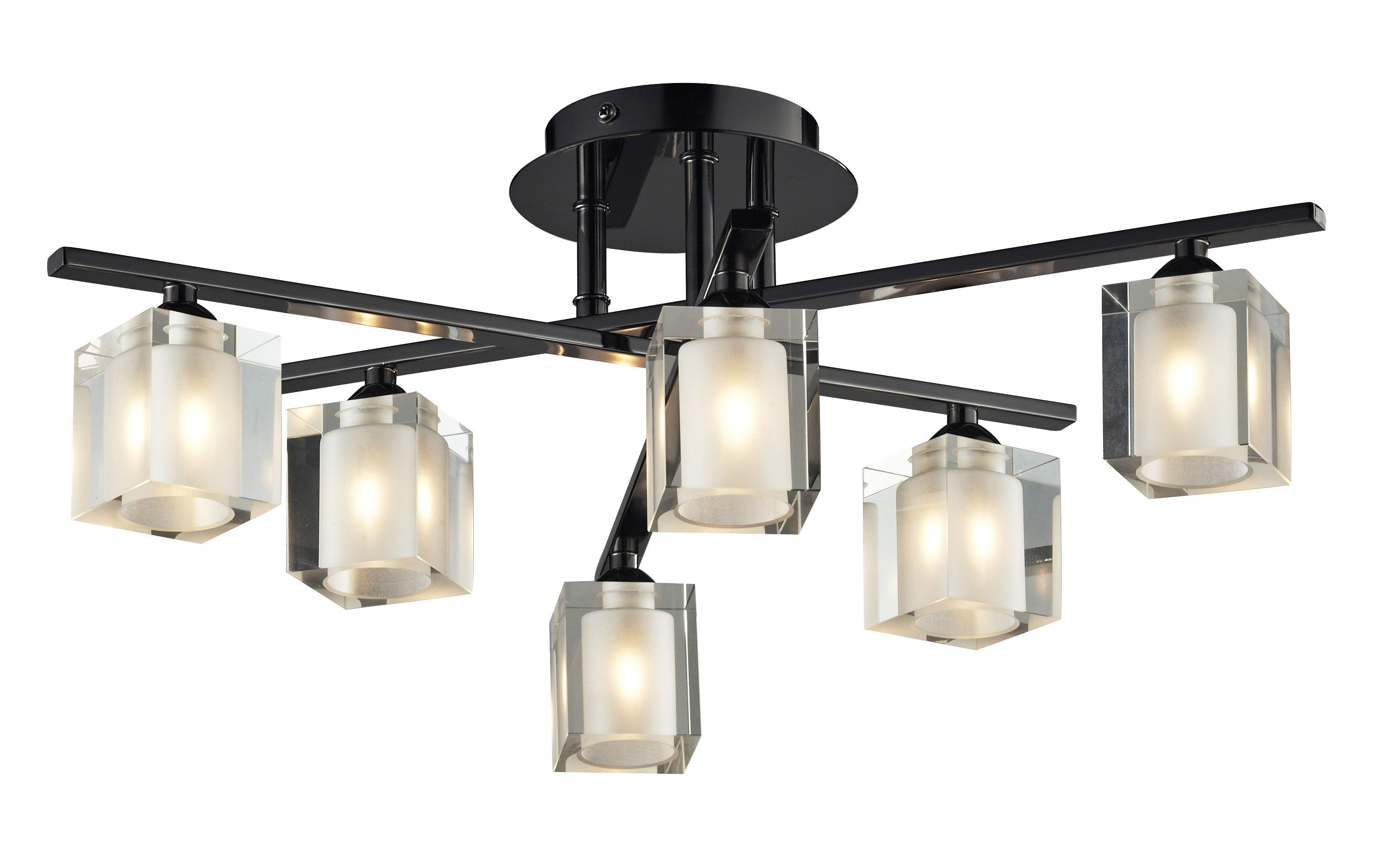 Narran cubic black nickel effect 6 lamp ceiling lamp ceilings bedroom narran cubic black nickel effect 6 lamp ceiling lamp departments diy at bq mozeypictures Image collections