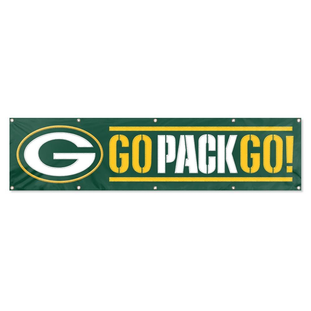 Party Animal Green Bay Packers Giant 8 Ft X 2 Ft Banner In 2020 Green Bay Nfl Packers Packers