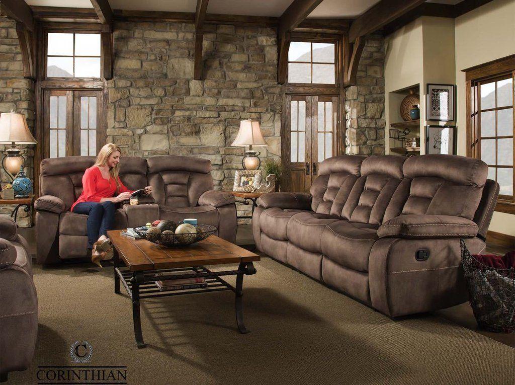 Corinthian Arrowhead Bark Reclining Sofa And Loveseat My Furniture Place Furniture Reclining Sofa Sofa