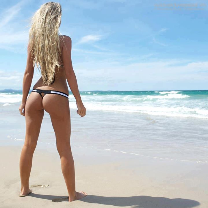 Hot blonde beach all