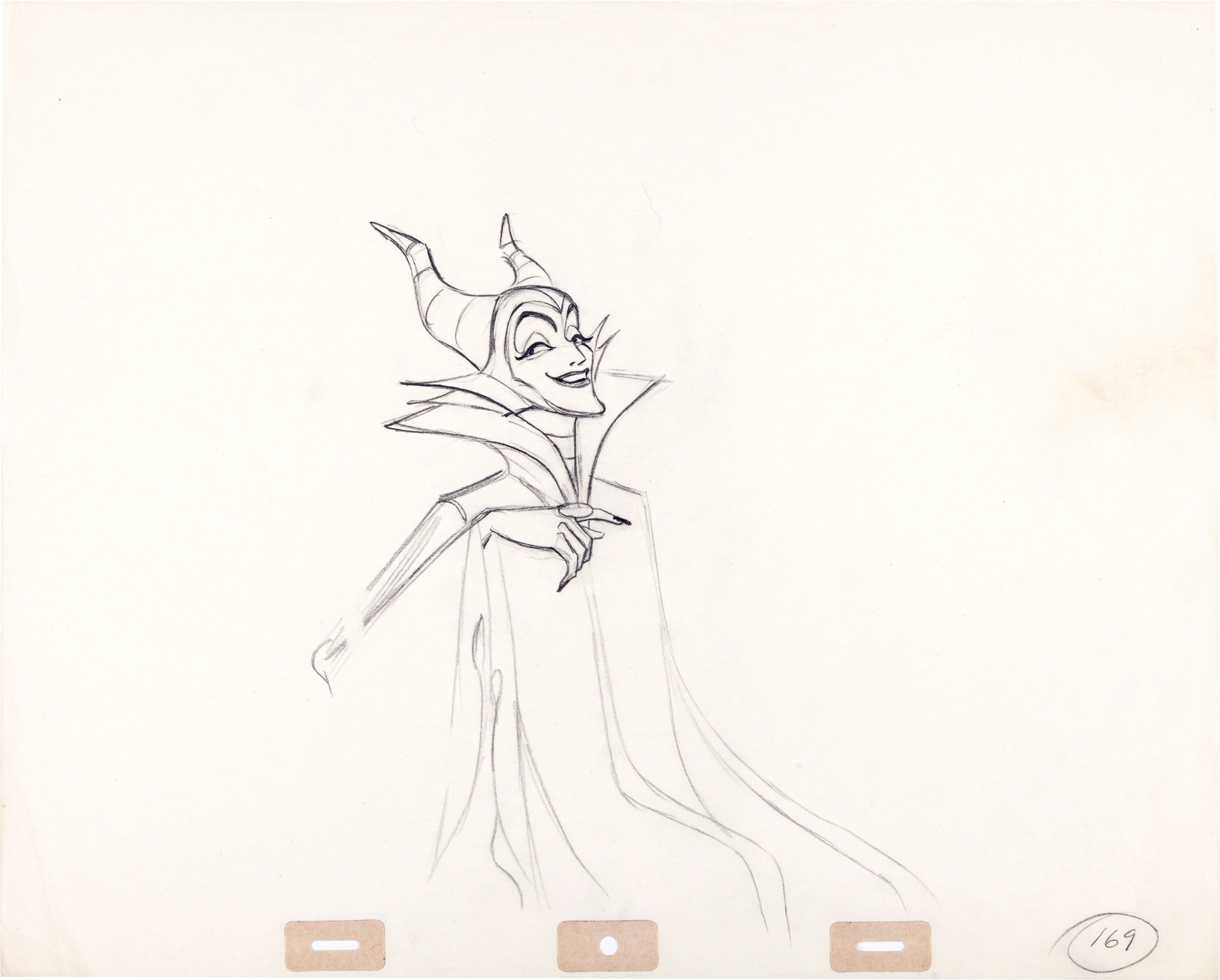 Animation Drawing Of Malificent From Disney S Sleeping Beauty