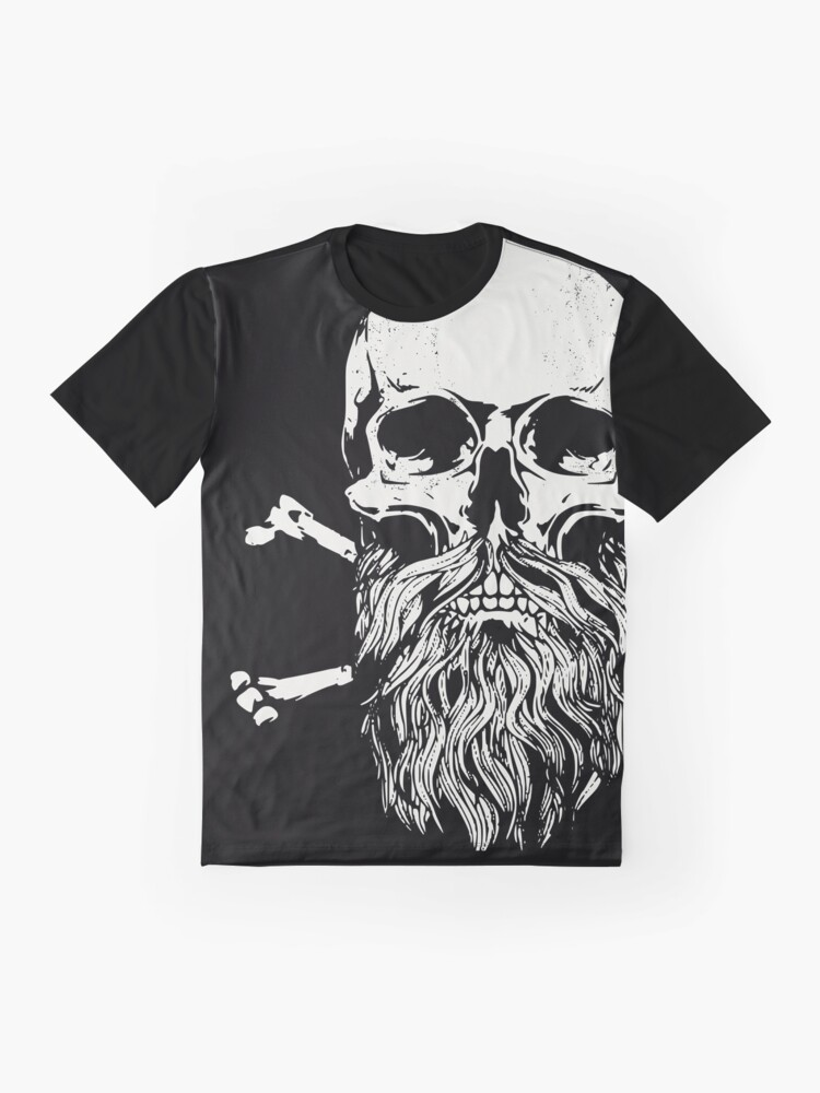 Photo of 'Bart Hipster Skull – Schädel mit Bart ' T-Shirt von RS-Customstylez
