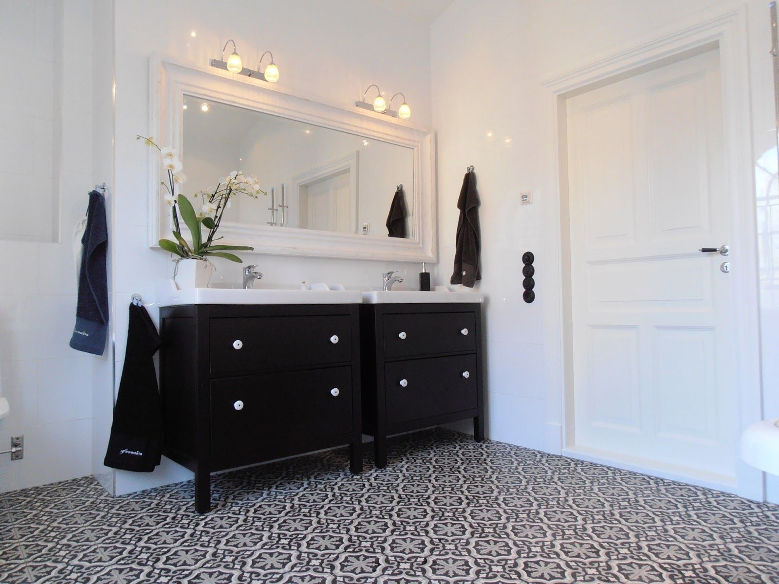 Hemnes Bad luxury moroccan tiles and a white hemnes bathroom more bathroom