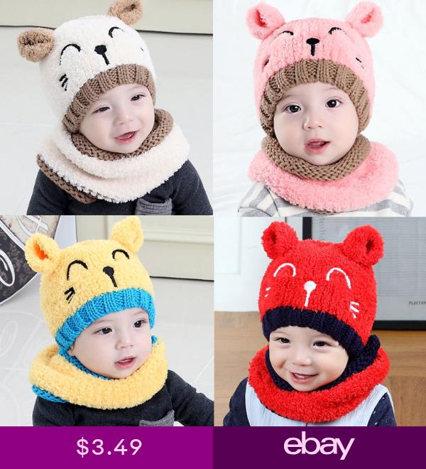 Toddler Boy Girls Warm Winter Woolen Beanie Hat Newborn Baby Crochet Knit Cap