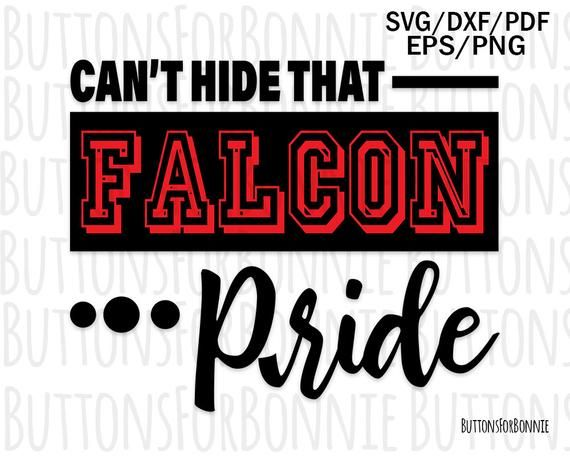 9697cef4 Falcon pride svg, falcon svg, falcon pride shirt, cut file, school ...