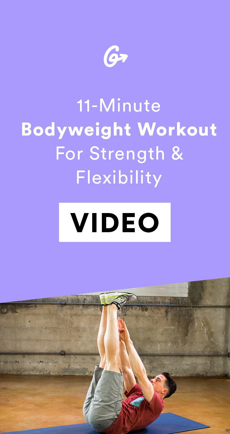 11 Minutes Is All You Need To Build Strength And Improve Flexibility At Home Workouts Cardio Workout At Home Bodyweight Workout