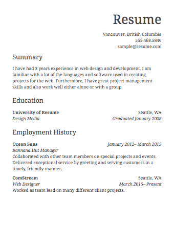 Resume Examples Layout ResumeExamples