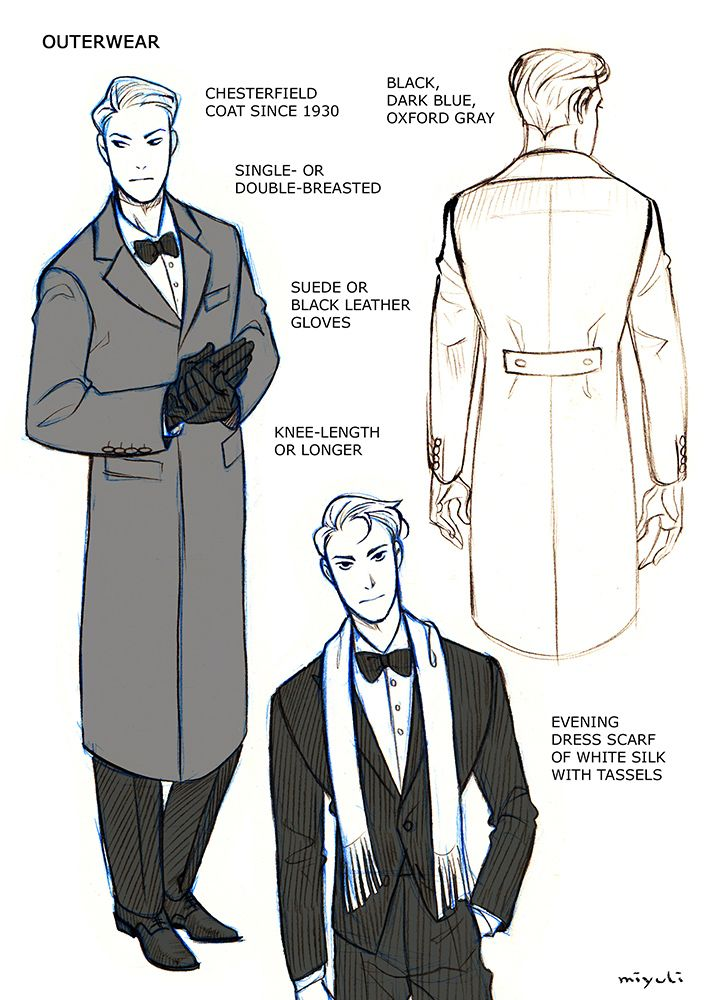 Character Design Mistakes : Miyuli i ve been studying the classic black tie
