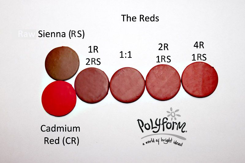 Raw Sienna and Cadmium Red Premo