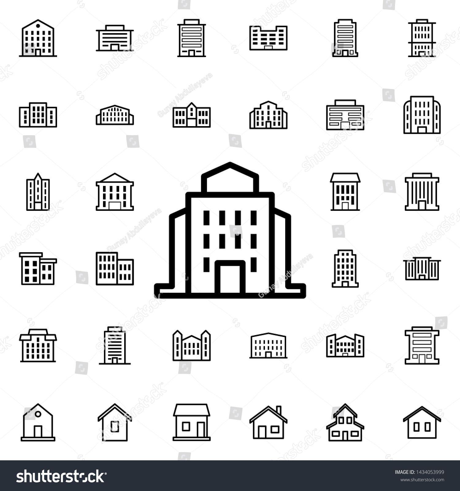 Public Institution Icon Universal Set Of Buildings For Website Design And Development App Developmen Photography Websites Design Building Icon Website Design [ 1600 x 1500 Pixel ]
