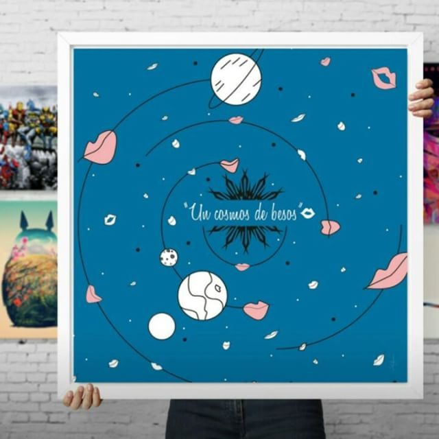 "9 Me gusta, 1 comentarios - Claudia Sabogal G. (@cgrafica) en Instagram: ""by CLAUDIA SABOGAL via @Curioos #roomdecor  #universe #homedecor #deco #interiordesign #artprint…"""