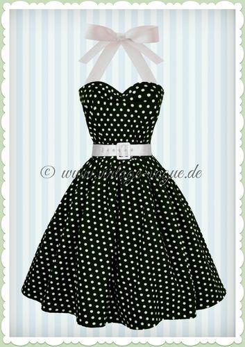 261d2c33210cea Dolly & Dotty 50er Jahre Rockabilly Punkte Kleid - Sophie - Schwarz Weiß