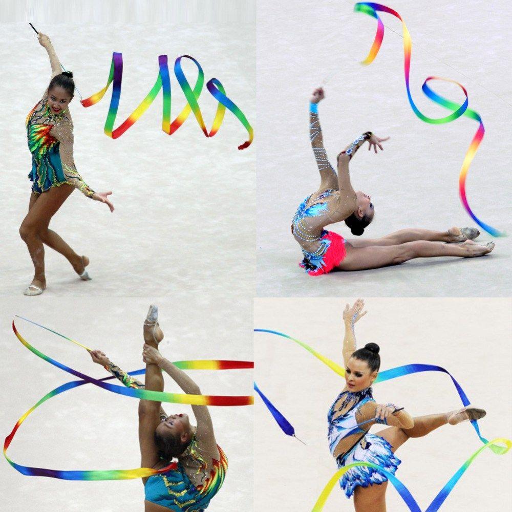 Training  Rod Stick Art Gymnastic Ballet Streamer  Dance Ribbon Twirling