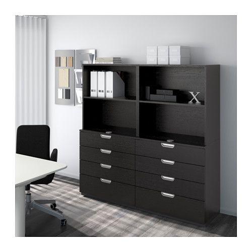 GALANT Opberger met lades - zwartbruin - IKEA