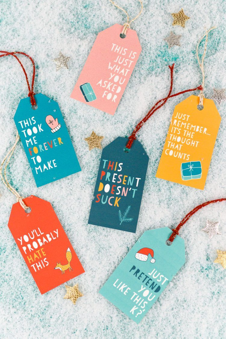 Latest Funny Christmas Totally Honest Printable Gift Tags Say what you're really thinking with this funny Christmas gift tags! These printable gift tags will make the recipient laugh out loud and probably score you some points before the gift is even opened! 6