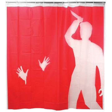 Psycho Shower Curtain From Kikkerland Designed By Jan Habraken