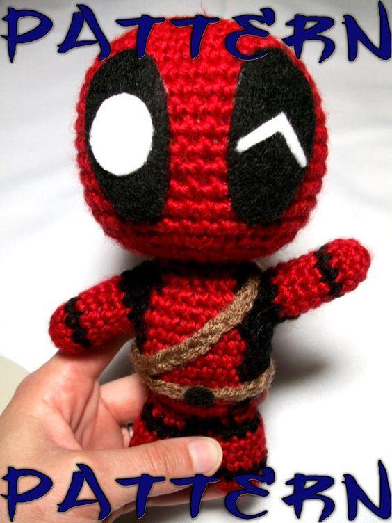 Deadpool Crochet Pattern Chibi Deadpool Intermediate by CroChels ...