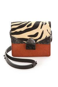 Loeffler Randall Mini Haircalf Agenda Handbag
