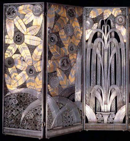 edgar brandt paravent vers 1930 atelier forge design art deco furniture pinterest. Black Bedroom Furniture Sets. Home Design Ideas