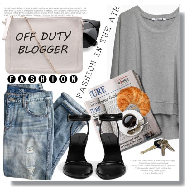 OFF DUTY ;-) by myfashionwardrobestyle on Polyvore featuring moda, T By Alexander Wang, J.Crew, Alexander Wang, 7 For All Mankind, Avon and Eos