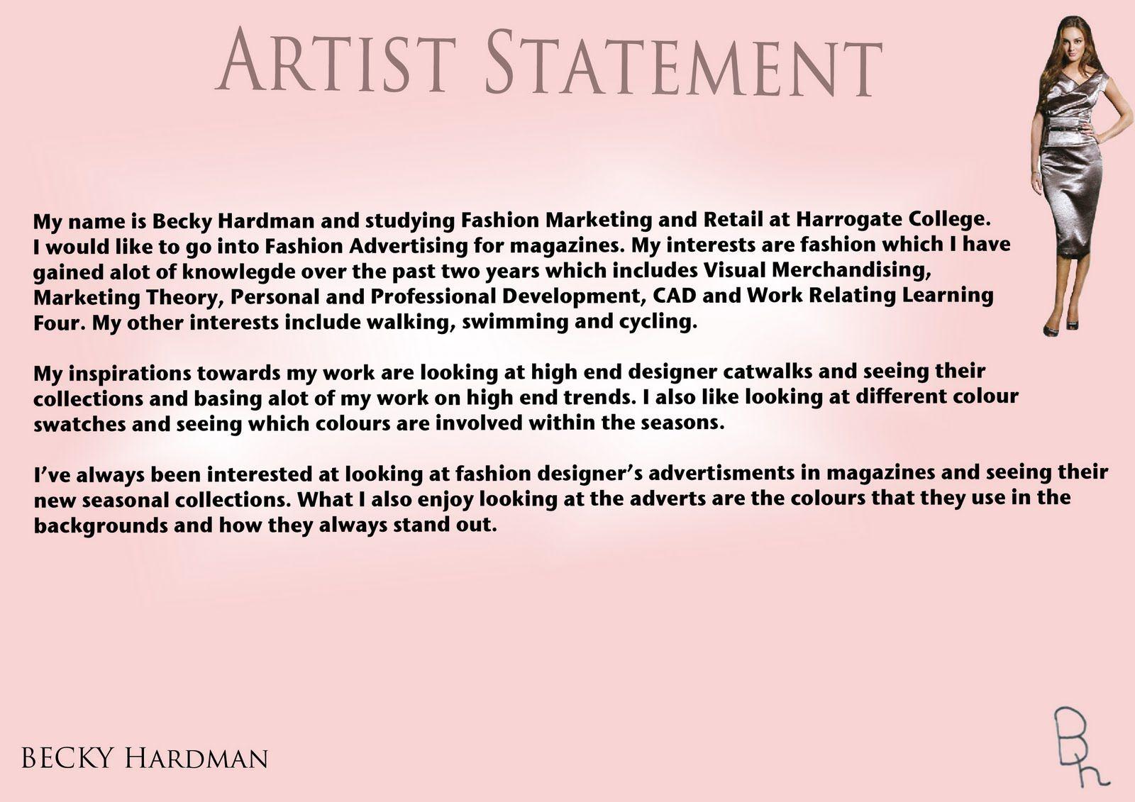bad artist statements