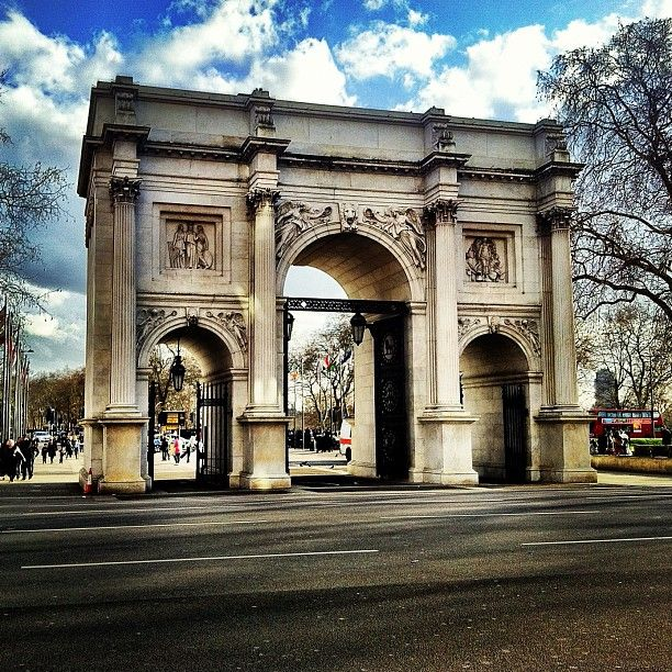 Marble Arch in City of Westminster, Greater London. This ...