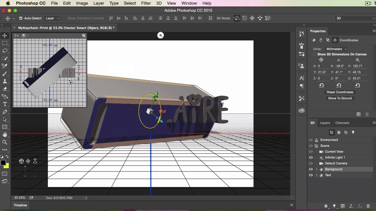 Photoshop cc 20155 3d printing keychain tutorial 3d printing photoshop cc 20155 3d printing keychain tutorial baditri Image collections