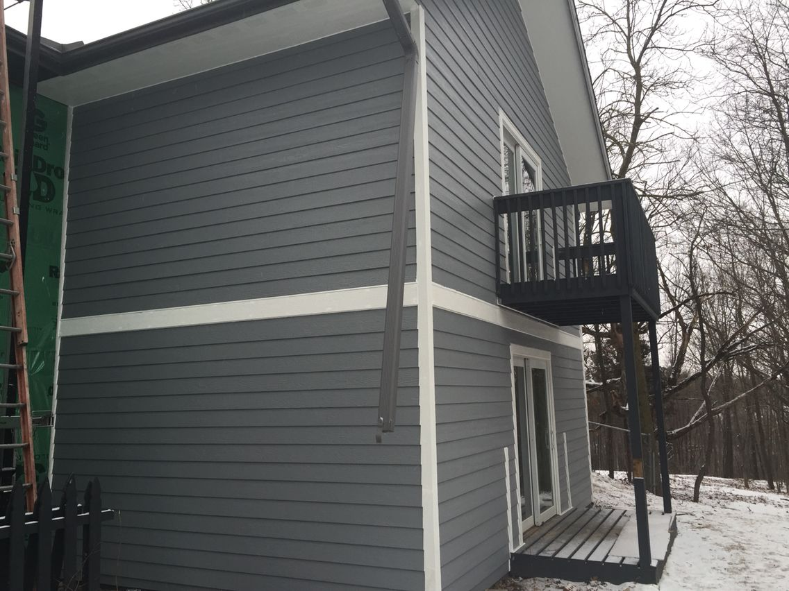 Lp Smartside West Bend Wi Color Harbor Grey Siding