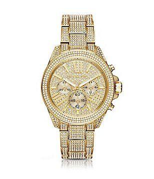 michael kors wren pavé gold tone stainless steel chronograph michael kors wren pavé gold tone stainless steel chronograph bracelet watch