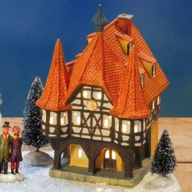 lichthaus rathaus michelstadt aus dem odenwald miniatur lichth user weihnachtsdeko. Black Bedroom Furniture Sets. Home Design Ideas