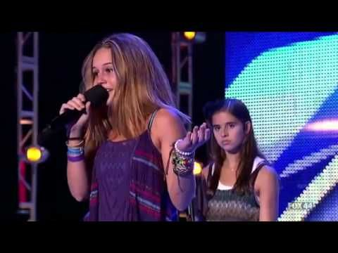 The X Factor USA 2012   Day 2 Bootcamp   Carly Rose Sonenclar' & Beatrice Miller'
