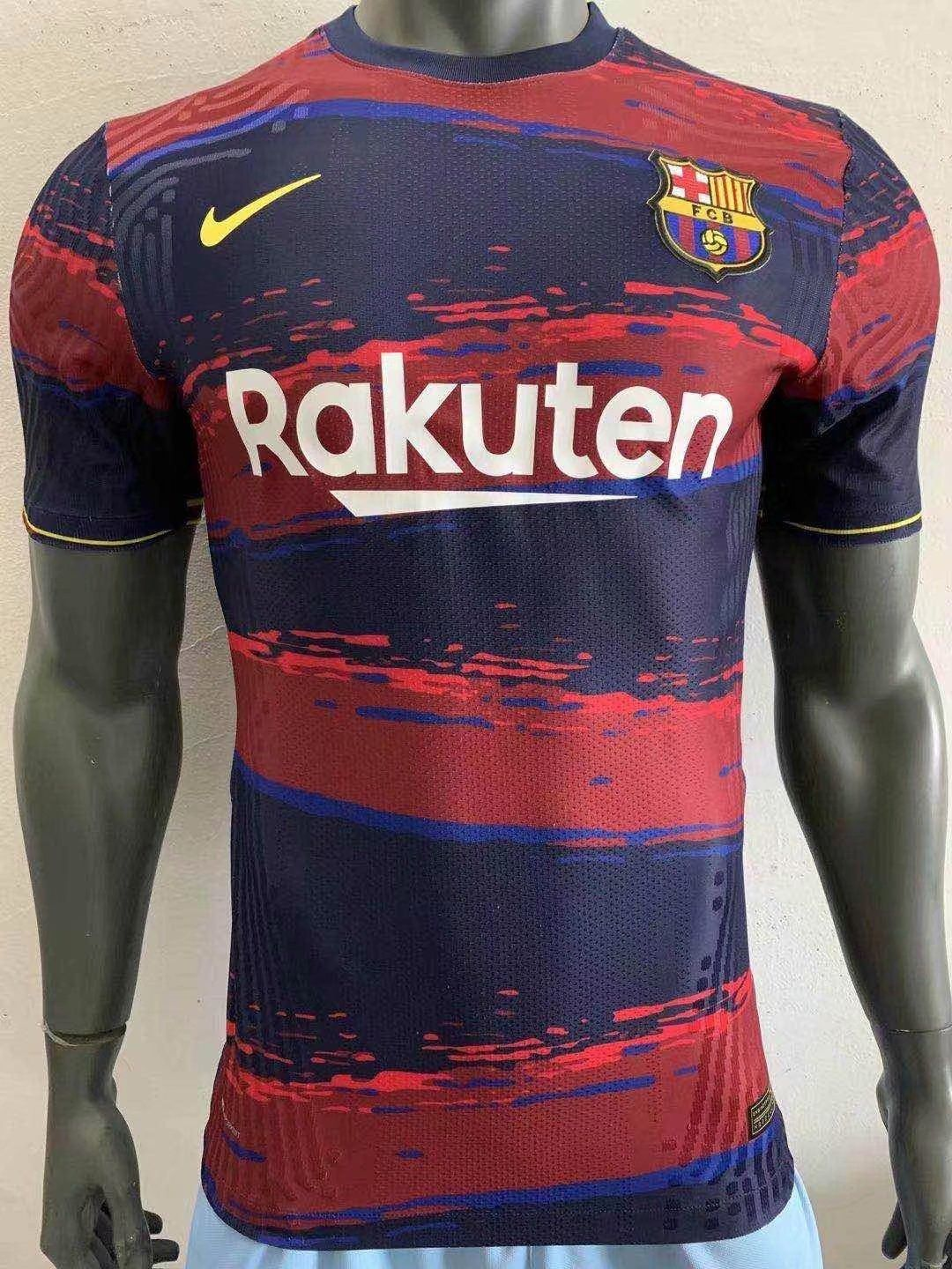 Barcelona Team Uniforms Training Shirt 2021 Player Version In 2020 Soccer Jersey Soccer Shirts Soccer Kits
