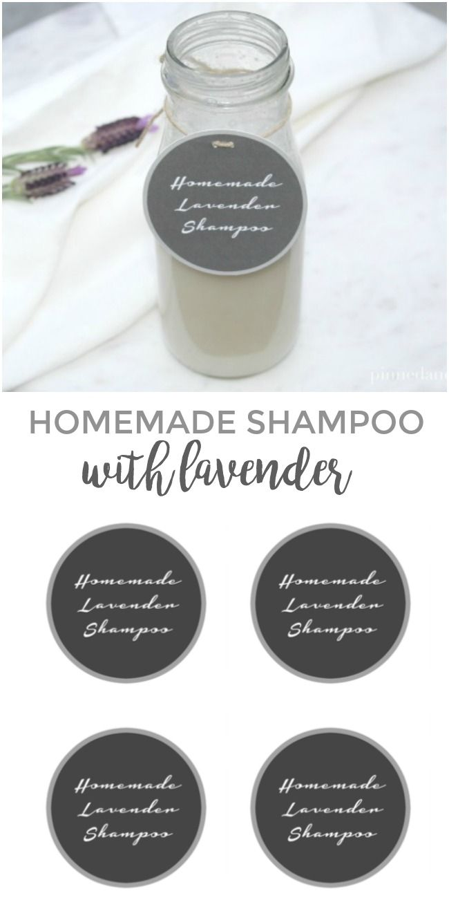 Homemade Shampoo with Lavender via @pinnedandrepinn