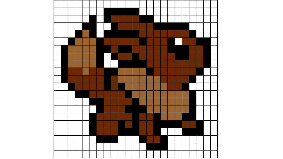 Eevee Pattern By Sneeuwmaan Deviantart Com On Deviantart Pixel Art Pokemon Pixel Art Grid Easy Pixel Art