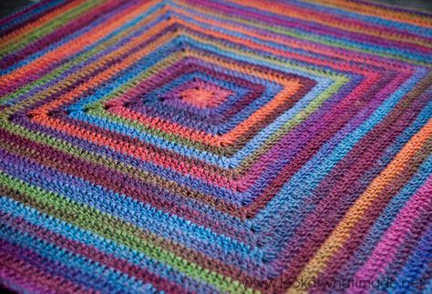 Continuous Crochet Baby Blanket 3 Sizes Car Seat Strollers Crib