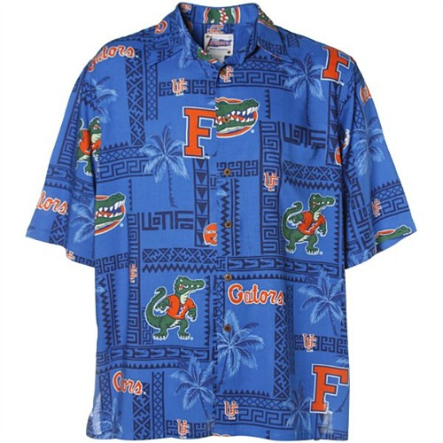 0419fb0b Florida Gator Hawaiian-style button-up shirt that is perfect for Gator  Gameday — or days and nights at the beach. Either way, you'll be showing  off your ...