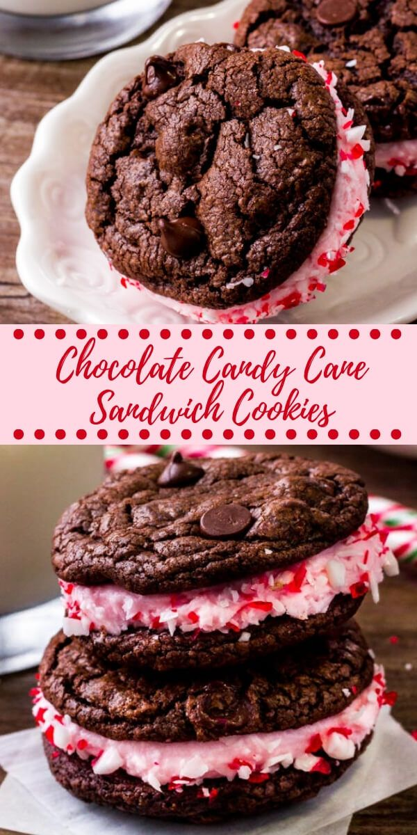 Chocolate Peppermint Sandwich Cookies