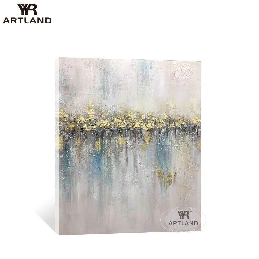génial  Mot-Clé YYR ARTLAND Hot sale Nordic style Handmade abstract oil painting on canvas wall home decoration for living room bedroom no frame   80cmx160cm / No framed