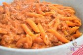 Photo of Pasta cheeseburger – pasta with minced meat and cheese-Pasta…