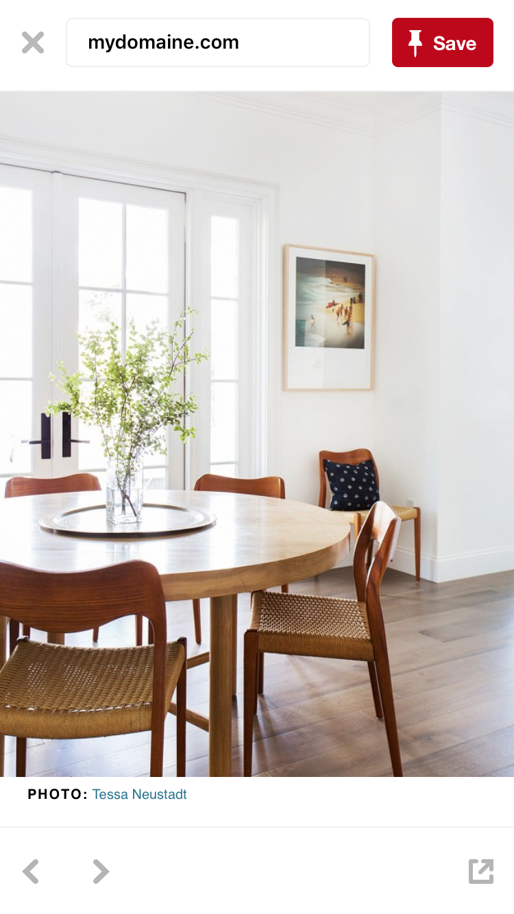 Round dining table and chairs for 4  This tone and texture  homettes  Pinterest  Dining Room and