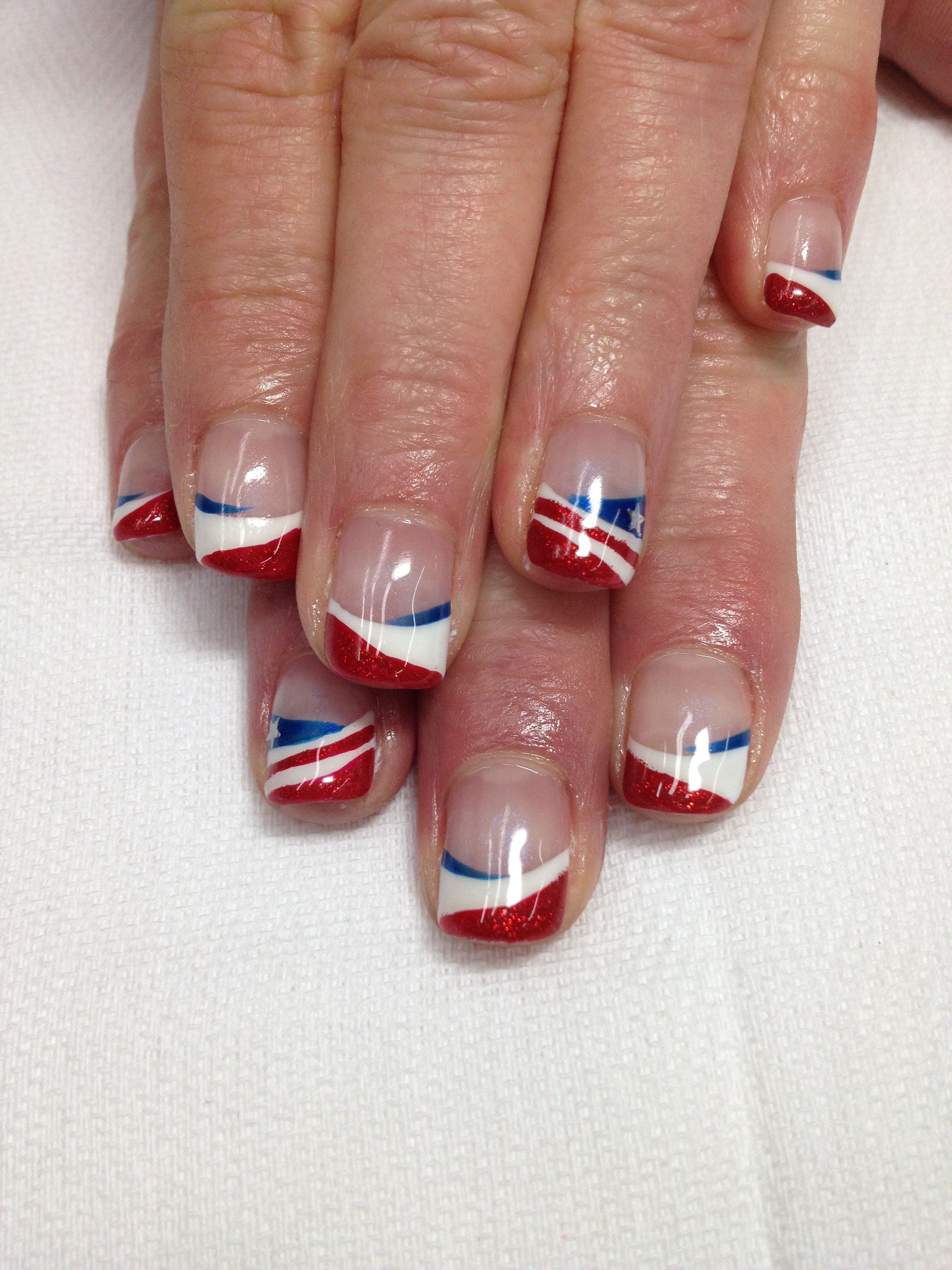 Memorial Day or 4th of July nails! Nontoxic & odorless gel used ...